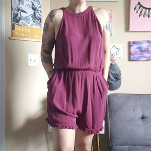 Mossimo | Red Basic Romper